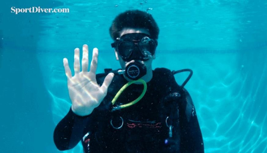 basic scuba diving hand signals