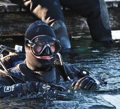 diver in drysuit