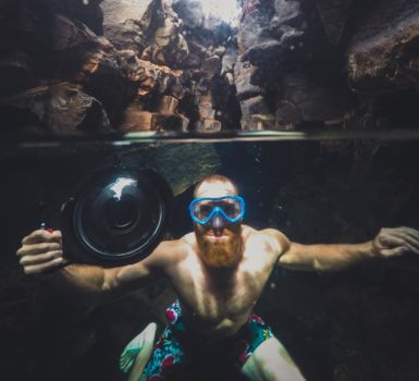 snorkeling with a beard